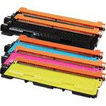 Pack de 5 toners compatibles Brother TN-230 (1 x cyan, 1 x magenta, 1 x jaune et 2 x noir)