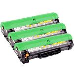 Pack de 3 toners noirs compatibles HP CB436A et Canon CRG713 (2 000 pages à 5%)