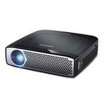 Mini vidéoprojecteur DLP HD 1280 x 720 350 Lumens avec Wi-Fi, Bluetooth, HDMI, MHL, USB et batterie intégrée