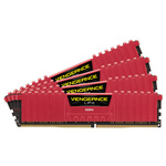 Kit Quad Channel 4 barrettes de RAM DDR4 PC4-17000 - CMK64GX4M4A2133C13R (garantie à vie par Corsair)