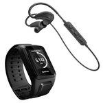 Montre de Fitness étanche avec GPS Cardio-fréquencemètre et mémoire interne 3 Go + Casque Bluetooth
