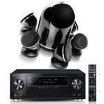 Ampli-tuner AV 7.2 canaux avec Dolby Atmos, MCACC PRO, 4K Ultra HD Scaler, 7 entrées HDMI, Audio Hi-Res, Spotify, Wi-Fi et Bluetooth + Pack d'enceintes 5.1