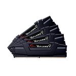 Kit Quad Channel 4 barrettes de RAM DDR4 PC4-25600 - F4-3200C15Q-64GVK (garantie 10 ans par G.Skill)