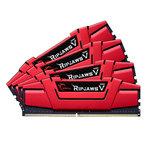 Kit Quad Channel 4 barrettes de RAM DDR4 PC4-25600 - F4-3200C15Q-32GVR (garantie 10 ans par G.Skill)