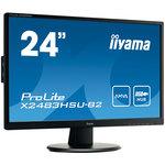 1920 x 1080 pixels - 4 ms - Format large 16/9 - Full HD - Dalle AMVA - HDMI/DVI-D/VGA - Hub USB - Noir