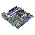 Carte mère Mini-ITX avec processeur Intel Xeon D-1540 - 4x DIMM DDR4 - SATA 6Gb/s - USB 3.0 - 1x PCI-Express 3.0 16x - 2x Gigabit LAN + 1 RJ45 Management