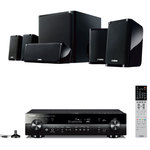 Ampli-tuner Home Cinéma 5.1 3D-Ready avec HDMI, HDCP 2.2, Ultra HD 4K, Wi-Fi, Bluetooth, DLNA, AirPlay et MusicCast + Pack d'enceintes 5.1