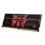 Kit Dual Channel 2 barrettes de RAM DDR4 PC4-17000 - F4-2133C15D-32GIS (garantie à vie par G.Skill)