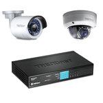 Pack de 2 caméras IP d'extérieur Full HD PoE Jour/Nuit + Switch 8 ports Ethernet dont 4 ports PoE