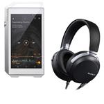 Lecteur High-Res audio HD et DAC 32 Go avec Bluetooth, WiFi et WiFi Direct + Casque audio haute résolution circum-auriculaire fermé