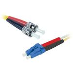 Câble fibre optique duplex monomode OS2 9/125 ST-LC (5 mètres)