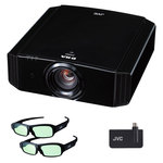 Vidéoprojecteur D-ILA 3D UHD 4K 1800 Lumens - Lens Shift motorisé + Kit 3D avec émetteur 3D RF et 2 paires de lunettes 3D RF