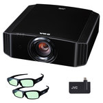 Vidéoprojecteur UHD 4K 1700 Lumens - Lens Shift + Kit 3D avec émetteur 3D RF et 2 paires de lunettes 3D RF