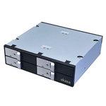 """Rack pour 4 disques durs HDD ou SSD 2.5"""" Serial ATA dans baie 5.25"""""""