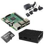 Carte Raspberry Pi 3 Model B + boîtier + carte mémoire avec système d'exploitation pré-chargé + adaptateur secteur