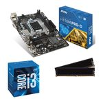 Carte mère Micro ATX Socket 1151 Intel H110 Express + CPU Intel Core i3-6100 (3.7 GHz) + RAM 8 Go DDR4