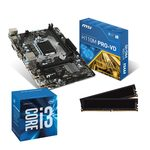 Carte mère Micro ATX Socket 1151 Intel H110 Express + CPU Intel Core i3-6100 (3.7 GHz) + RAM 8 Go DDR4