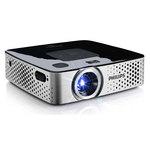 Mini vidéoprojecteur DLP HD 854 x 480 170 Lumens avec Wi-Fi, HDMI, USB et batterie intégrée