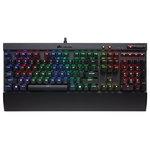 Clavier mécanique à switches Cherry MX Speed avec rétro-éclairage multicolore pour gamer (AZERTY, Français)