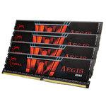 Kit Quad Channel 4 barrettes de RAM DDR4 PC4-19200 - F4-2400C15Q-16GIS (garantie à vie par G.Skill)