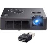 Vidéoprojecteur ultra-portable DLP WXGA 800 Lumens avec HDMI et MHL + Adaptateur sans fil USB