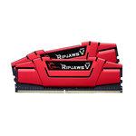 Kit Dual Channel 2 barrettes de RAM DDR4 PC4-25600 - F4-3200C16D-16GVR (garantie 10 ans par G.Skill)