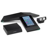 Solution de visioconférence professionnelle avec console téléphonique, webcam Full HD et boitier de communication collaborative