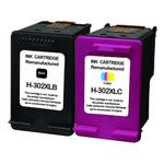 Cartouches d'encre couleur (cyan, magenta, jaune) et noir compatible HP 302XL (330 + 480 pages)