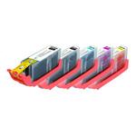 Pack de 5 cartouches d'encre compatibles Canon PGI-570XL BK (550 pages) et CLI-571XL (Cyan, magenta, jaune et noir)