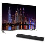 """Téléviseur LED 4K 50"""" (127 cm) 16/9 - 3840 x 2160 pixels - TNT, Câble et Satellite HD - Ultra HD - HDR - 1400 Hz - Wi-Fi - DLNA + Barre de son 2.0 Bluetooth"""