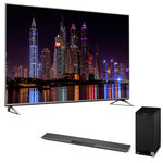 """Téléviseur LED 4K 58"""" (147 cm) 16/9 - 3840 x 2160 pixels - TNT, Câble et Satellite HD - Ultra HD - HDR - 1400 Hz - Wi-Fi - DLNA + Barre de son 2.1 avec caisson de basses sans fil, Bluetooth, NFC et HDMI"""
