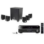 Ampli-tuner Home Cinéma 5.1 3D avec HDMI 2.0, HDCP 2.2, Ultra HD 4K et Bluetooth + Pack d'enceintes compactes 5.1