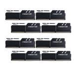 Kit Quad Channel 8 barrettes de RAM DDR4 PC4-25600 - F4-3200C16Q2-128GTZKW - Blanc et noir (garantie 10 ans par G.Skill)