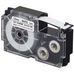 Ruban pour câbles flexibles 12 mm x 5.5 m noir sur blanc pour étiqueteuse KL-120, KL-130, KL-820, KL-7400, KL-HD1, KL-G2