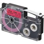 Ruban flurorescent 12 mm x 5.5 m noir sur rose pour étiqueteuse KL-120, KL-130, KL-820, KL-7400, KL-G2, KL-HD1