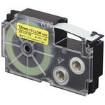 Ruban flurorescent 12 mm x 5.5 m noir sur jaune pour étiqueteuse KL-120, KL-130, KL-820, KL-7400, KL-G2, KL-HD1