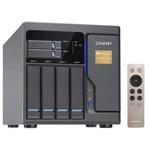 """Serveur NAS 4 baies 3.5""""/2.5"""" + 2 baies 2.5"""" avec processeur Dual-Core Intel Core i3-6100 3.7 GHz - RAM 8 Go - 2x Thunderbolt - 2x RJ45 10 GbE (sans disque dur)"""