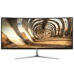 3440 x 1440 pixels - 5 ms - Format large 21/9 - Dalle IPS incurvée - DisplayPort - HDMI - Hub USB - Noir/Argent