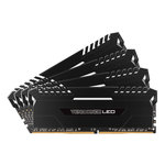 Kit Quad Channel 4 barrettes de RAM DDR4 PC4-25600 - CMU64GX4M4C3200C16 (garantie à vie par Corsair)