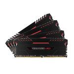 Kit Quad Channel 4 barrettes de RAM DDR4 PC4-25600 - CMU64GX4M4C3200C16R (garantie à vie par Corsair)
