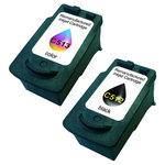 Pack de 2 cartouches d'encre compatibles Canon PG-512/CL-513 (1 x noir et 1 x couleur cyan/magenta/jaune)