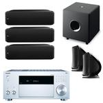 Ampli-tuner Home Cinéma 7.2 - THX - Bluetooth - AirPlay - Wi-Fi - Dolby Atmos - DTS:X - 4K - HDCP 2.2 - HDR - Hi-Res Audio - 8 entrées HDMI + enceinte bibliothèque (3x) + enceinte bibliothèque (par paire) + caisson de graves