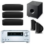 Ampli-tuner Home Cinéma 7.2 - THX - Bluetooth - Wi-Fi - Dolby Atmos - DTS:X - HDCP 2.2 - Hi-Res Audio - 8 entrées HDMI + enceinte bibliothèque (3x) + enceinte bibliothèque (par paire) + caisson de graves