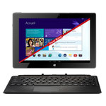 "Tablette Internet - Intel Atom Z3740D 2 Go DDR3 64 Go 10.1"" IPS Tactile Wi-Fi/Bluetooth Webcam Windows 8.1 / Android 4.2"