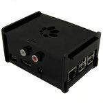 Boîtier noir en acrylique pour carte HiFiBerry DAC+ (RCA), Digi+ et Raspberry Pi B+