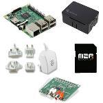 Carte Raspberry Pi 3 Model B + carte son HiFiBerry DAC+ standard RCA + boîtier + carte mémoire avec système d'exploitation pré-chargé + adaptateur secteur