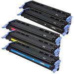 Pack de 5 toners compatibles HP/Canon Q6000A ( 2 x noir, 1 x cyan, 1 x magenta, 1 x jaune)