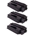 Pack de 3 toners noirs compatibles (6 900 pages à 5%)