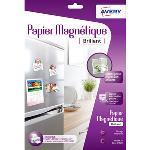 Papier magnétique blanc brillant au format A4 pour imprimante jet d'encre (3 feuilles)