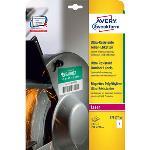 Etiquettes blanches au format A4, ultra-résistantes en polyéthylène (lot de 10)